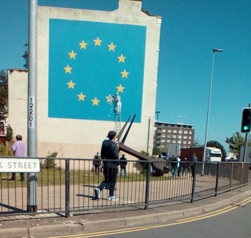 Banksy mural, Europe Day 2017, Dover. Photo copyright 2017 Théroigne S B G Russell